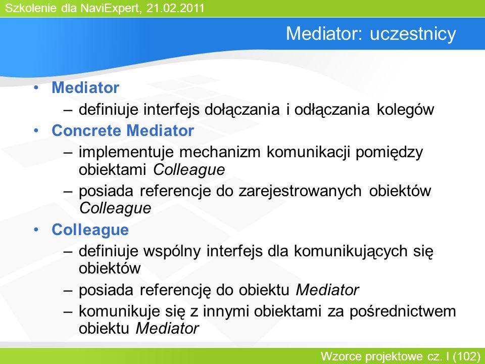 Mediator: uczestnicy Mediator