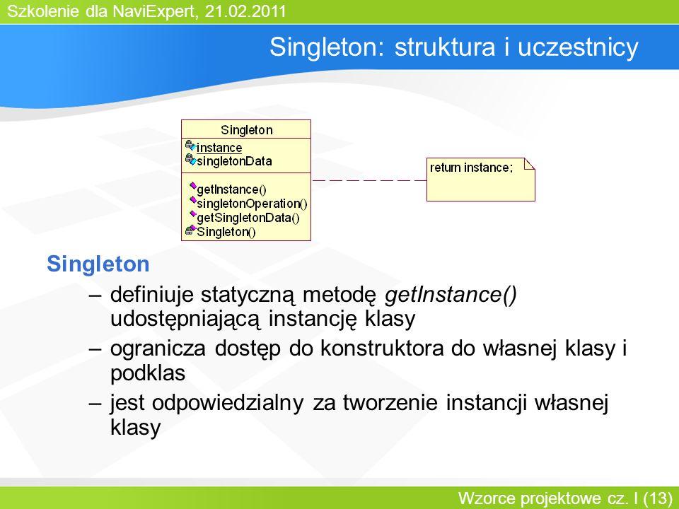 Singleton: struktura i uczestnicy