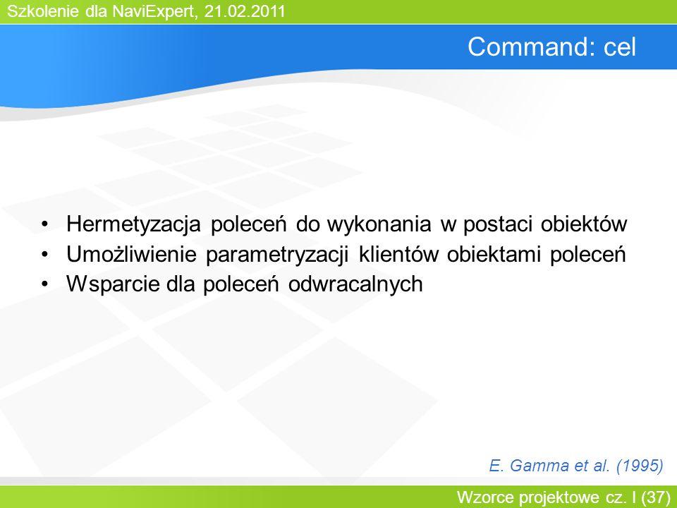 Command: cel Hermetyzacja poleceń do wykonania w postaci obiektów