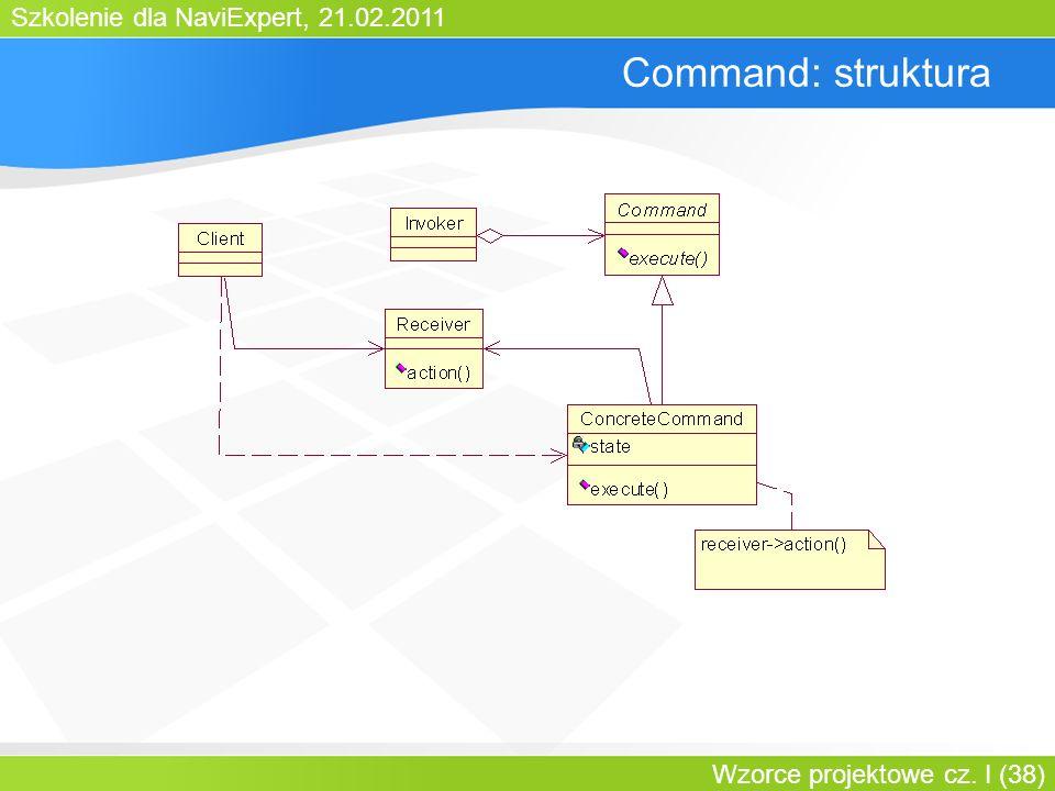 Command: struktura Bartosz Walter Wzorce projektowe cz. I