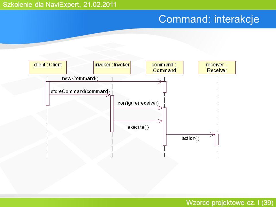 Command: interakcje Bartosz Walter Wzorce projektowe cz. I
