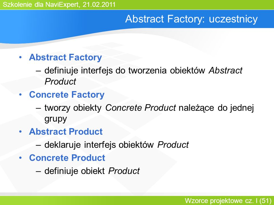 Abstract Factory: uczestnicy