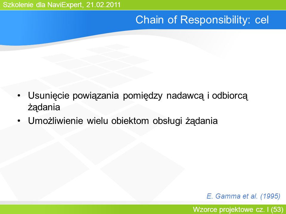 Chain of Responsibility: cel