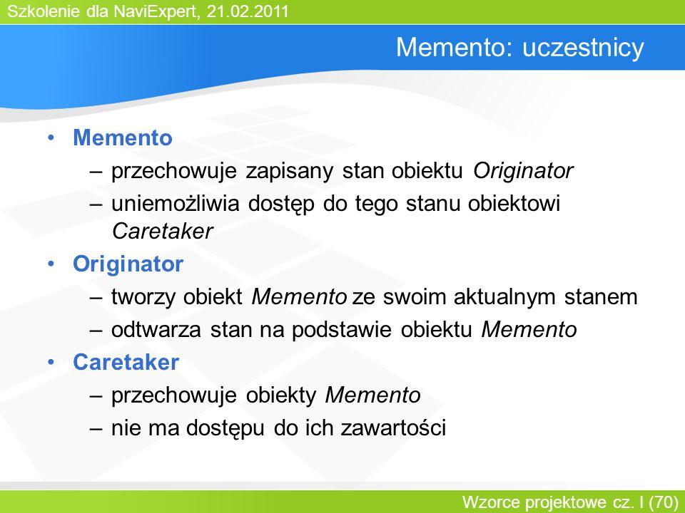 Memento: uczestnicy Memento