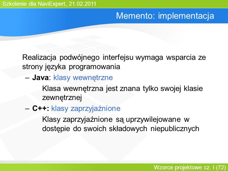 Memento: implementacja