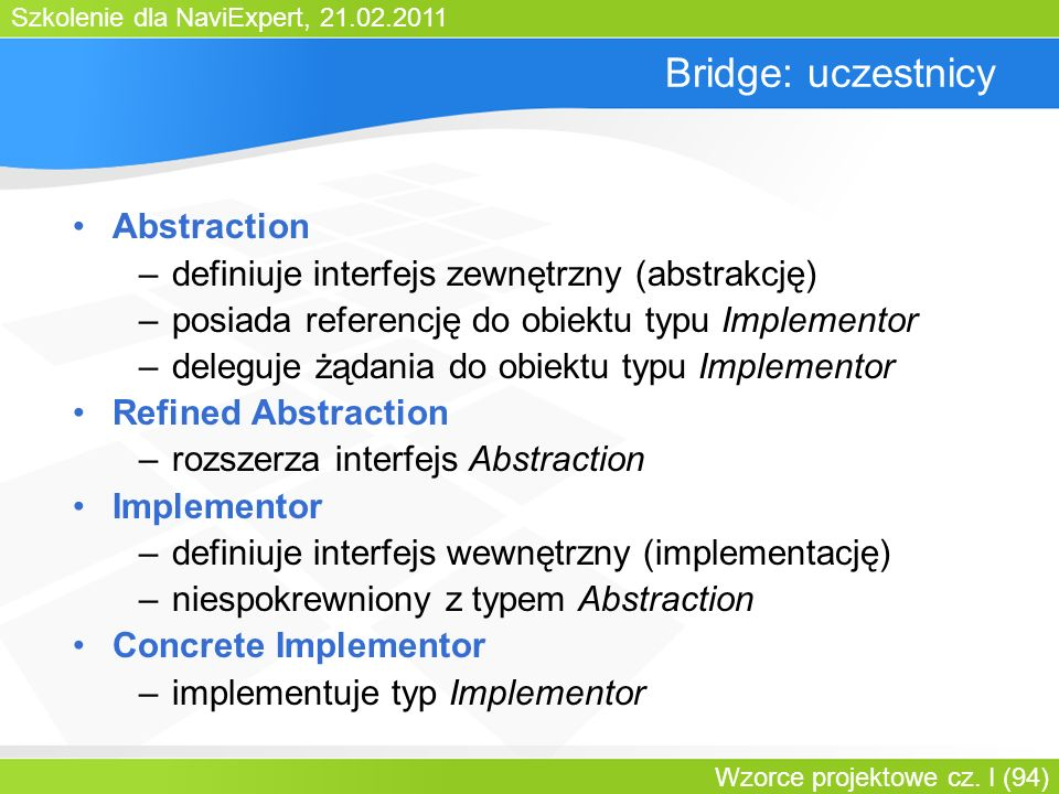 Bridge: uczestnicy Abstraction