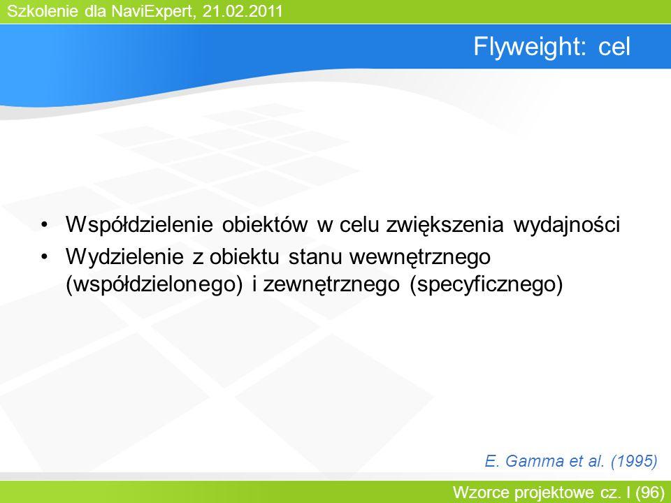 Flyweight: cel Współdzielenie obiektów w celu zwiększenia wydajności