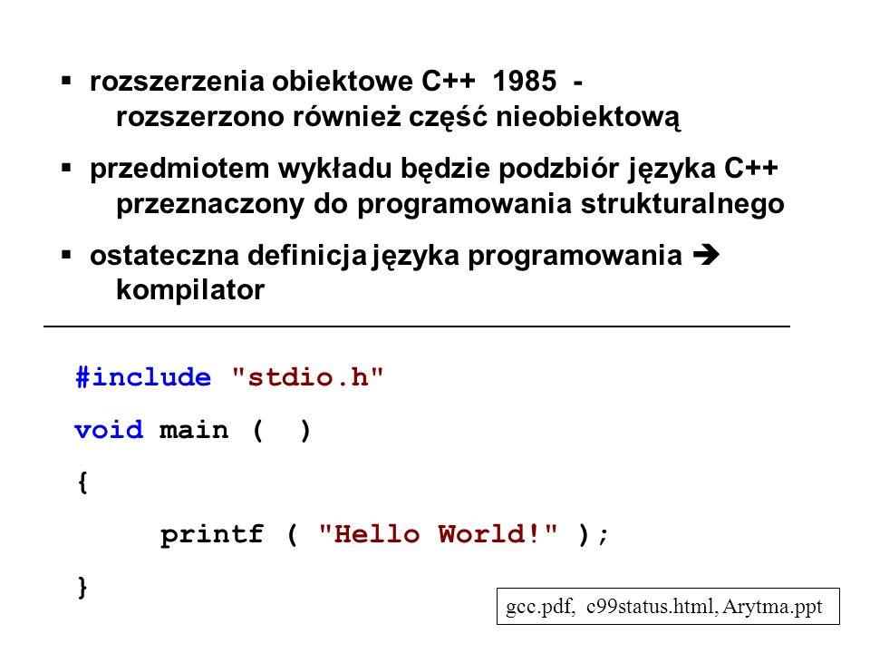 ostateczna definicja języka programowania  kompilator