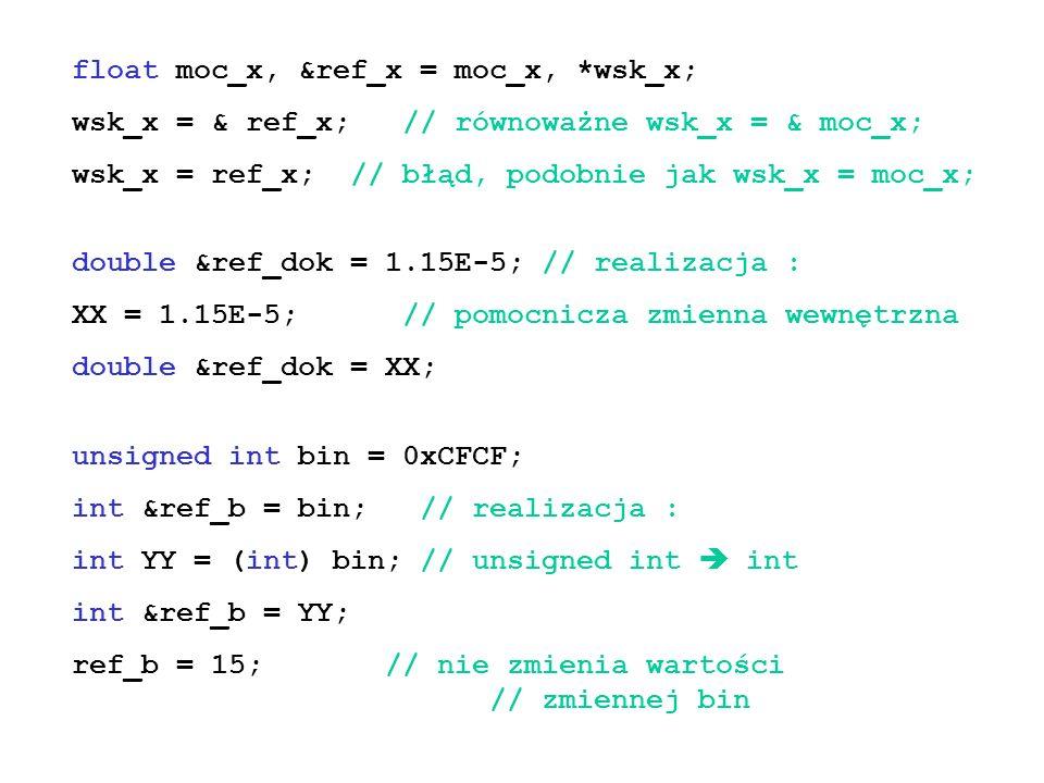 float moc_x, &ref_x = moc_x, *wsk_x;