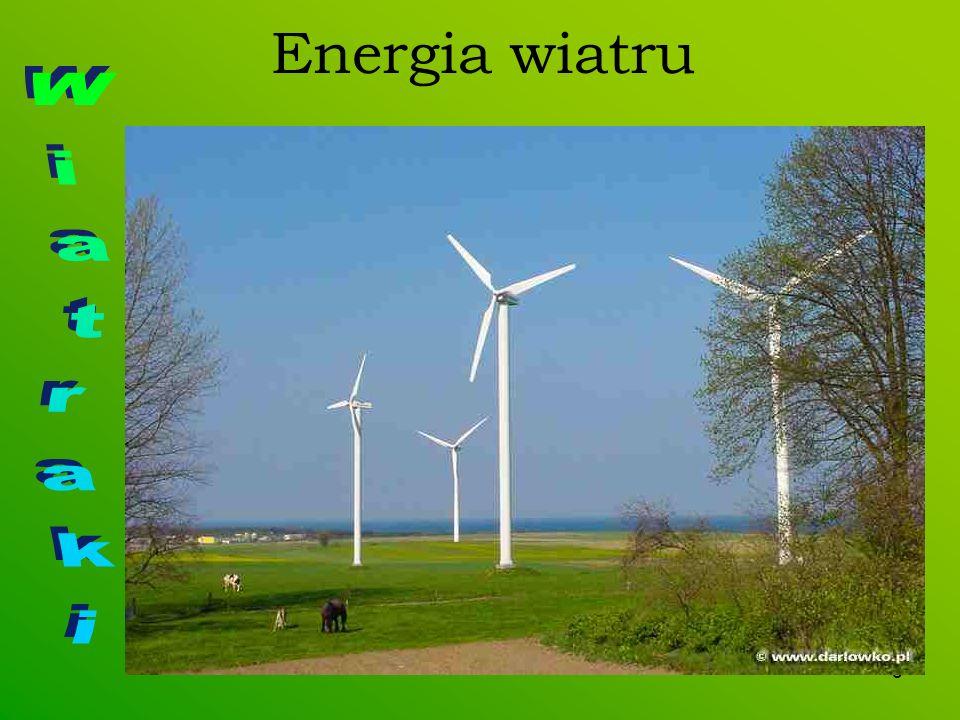 Energia wiatru Wiatraki