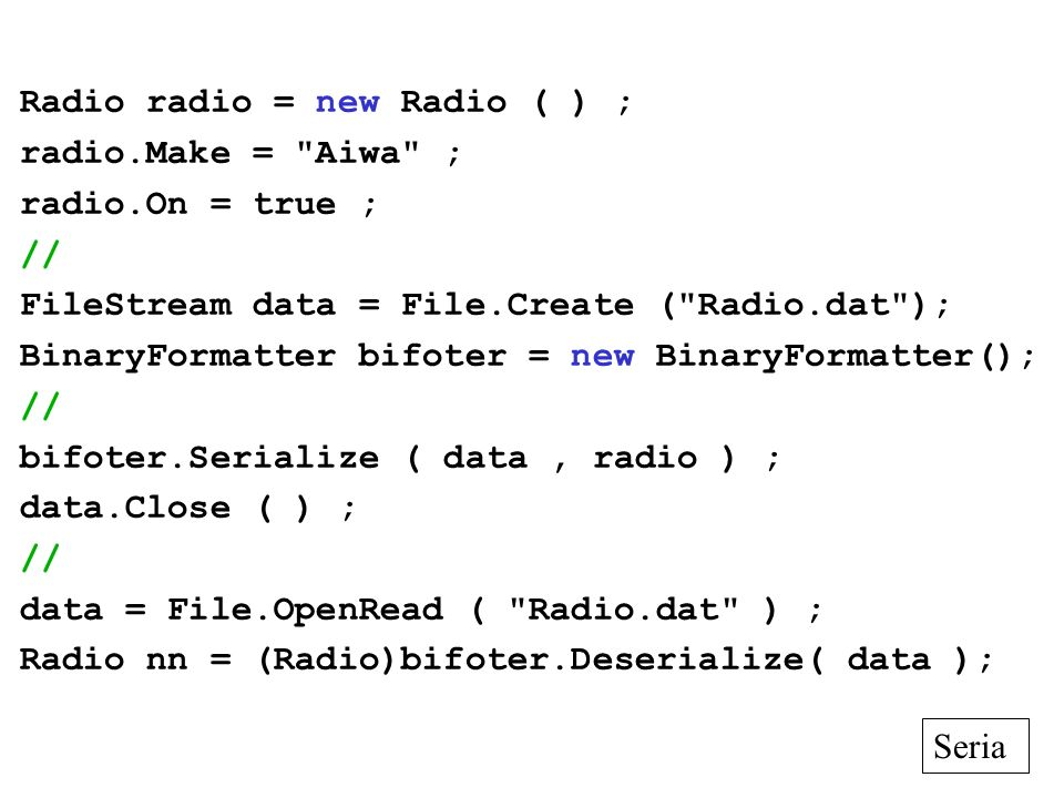 Radio radio = new Radio ( ) ;