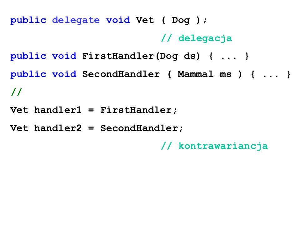 public delegate void Vet ( Dog );