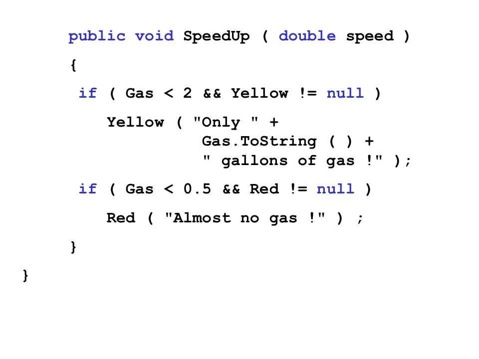 public void SpeedUp ( double speed )