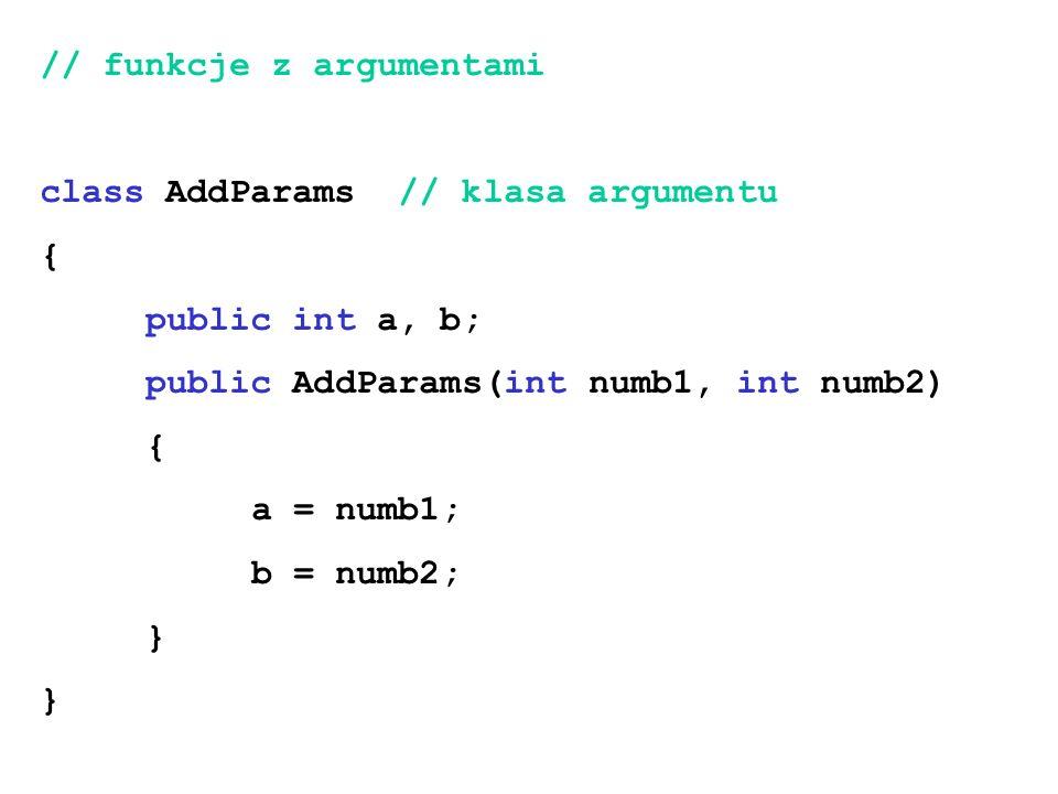 // funkcje z argumentami