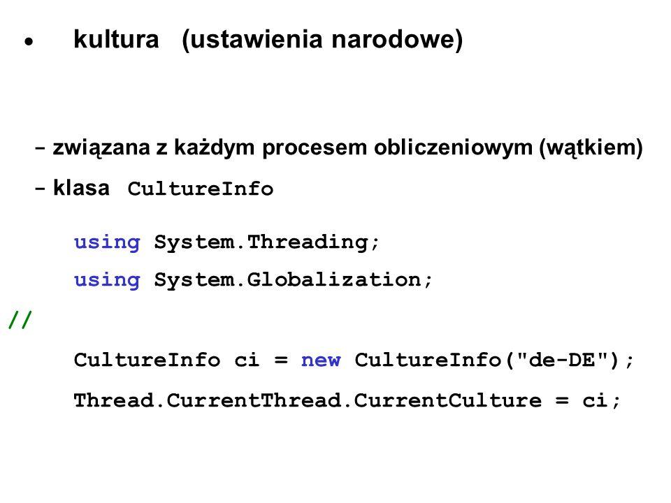 · kultura (ustawienia narodowe)