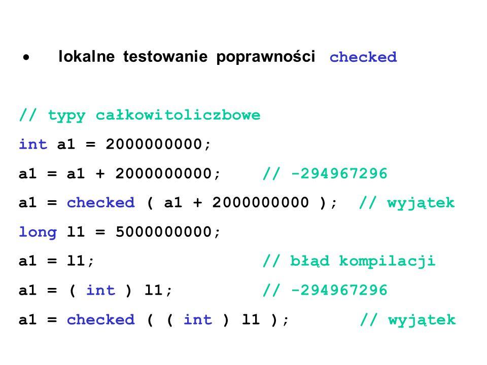· lokalne testowanie poprawności checked