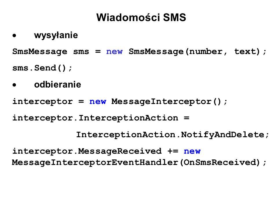 Wiadomości SMS  wysyłanie