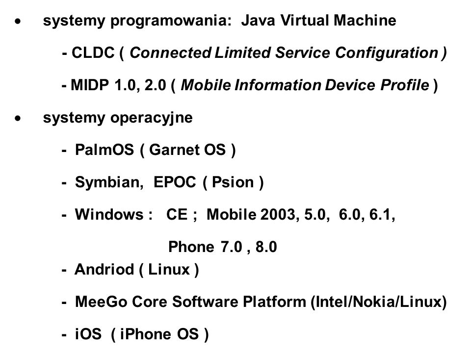 systemy programowania: Java Virtual Machine