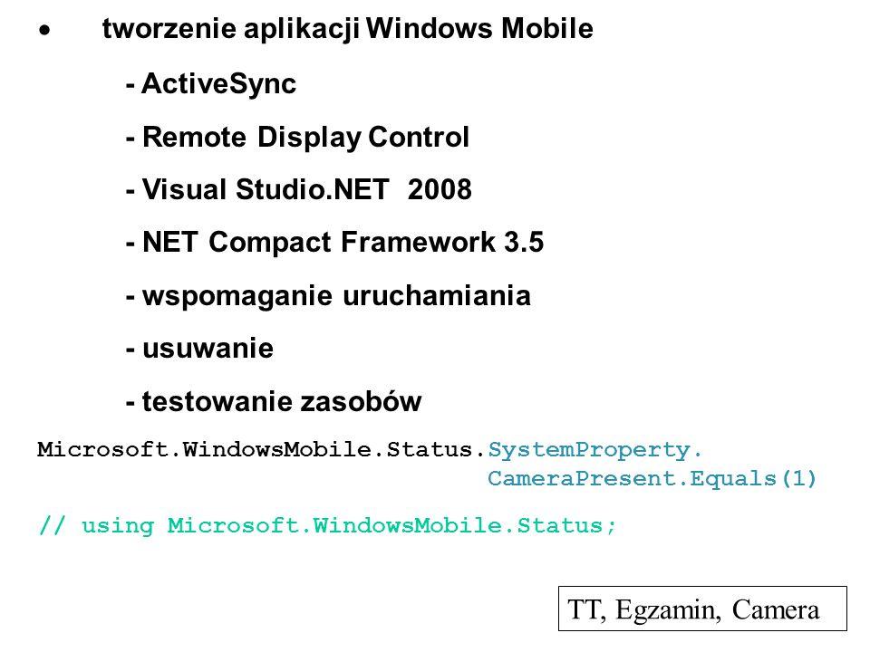  tworzenie aplikacji Windows Mobile - ActiveSync