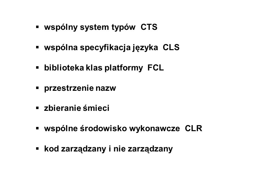 wspólny system typów CTS