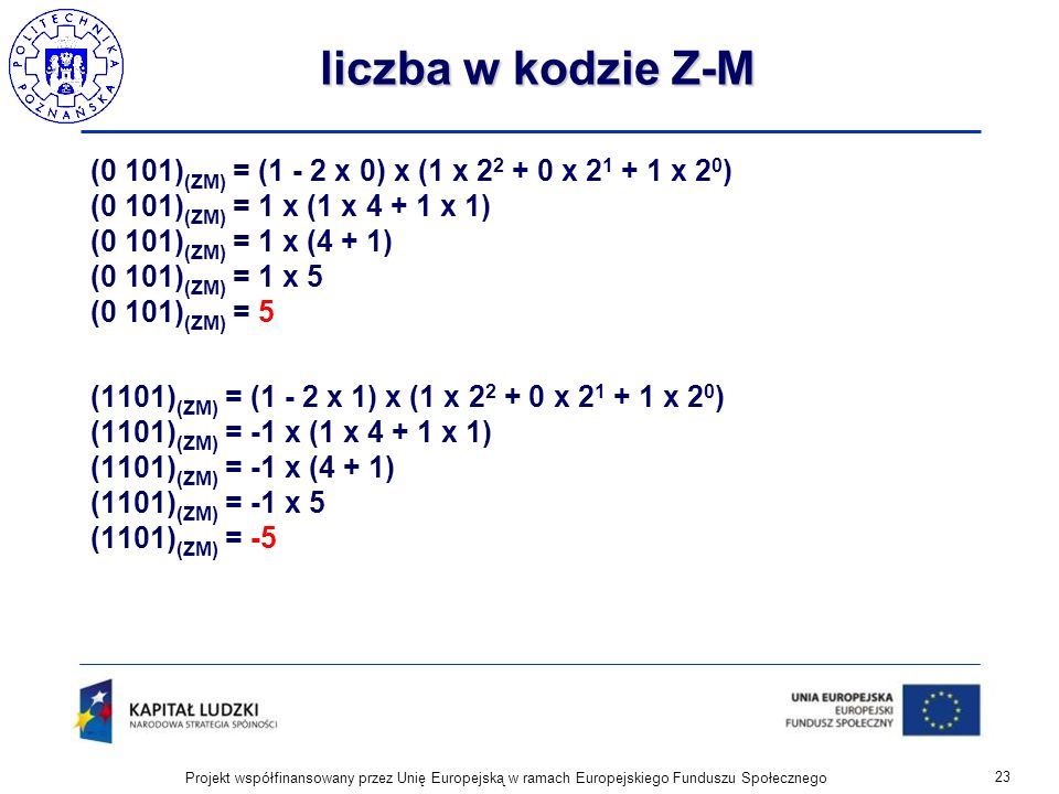 liczba w kodzie Z-M