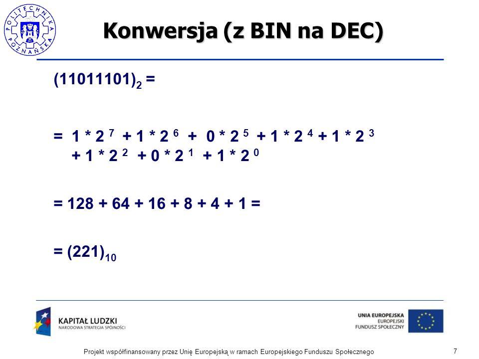Konwersja (z BIN na DEC)