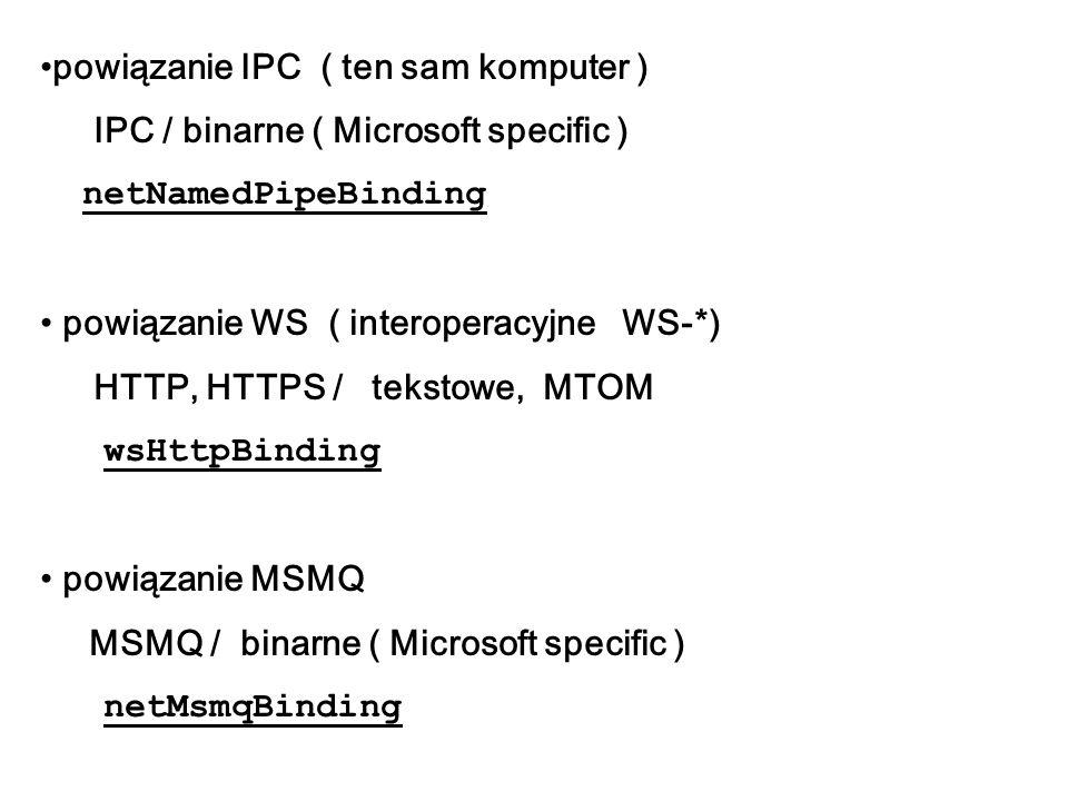 powiązanie IPC ( ten sam komputer )