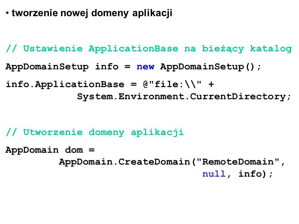 tworzenie nowej domeny aplikacji