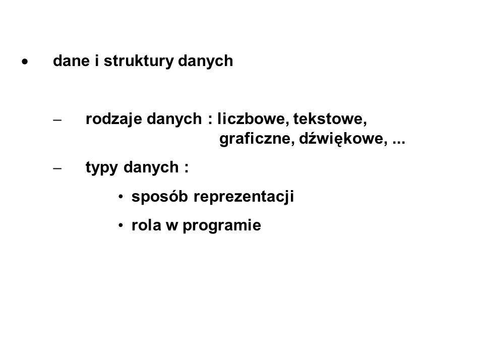 · dane i struktury danych