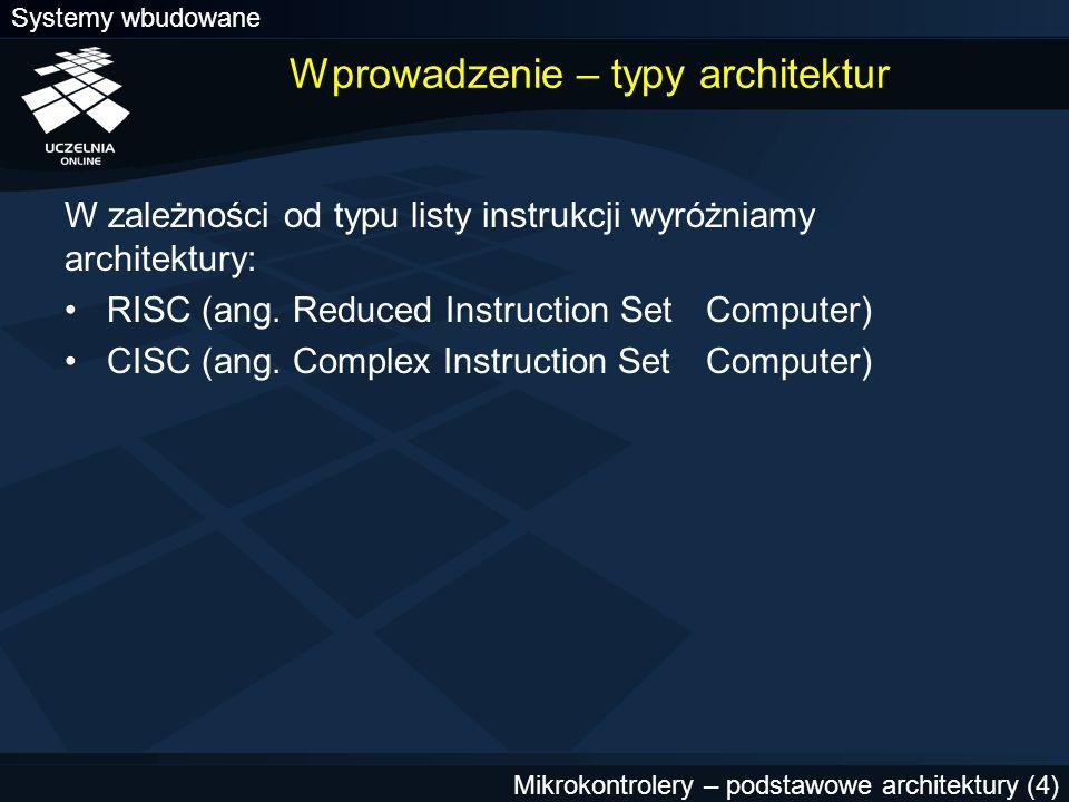 Wprowadzenie – typy architektur