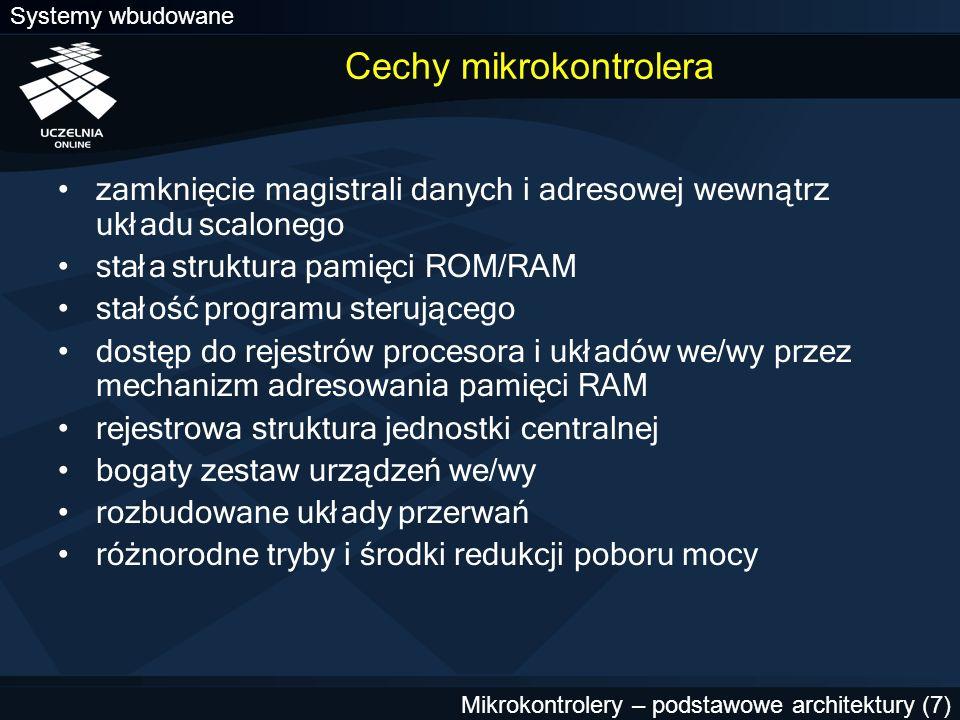Cechy mikrokontrolera