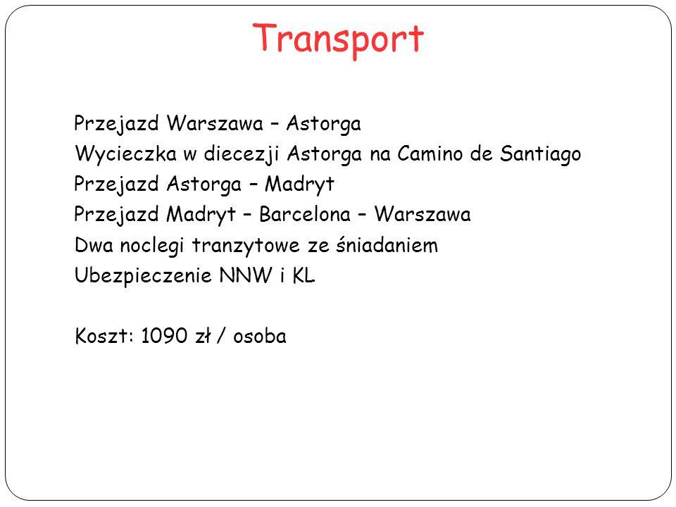 Transport Przejazd Warszawa – Astorga