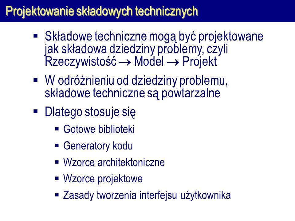 Projektowanie składowych technicznych