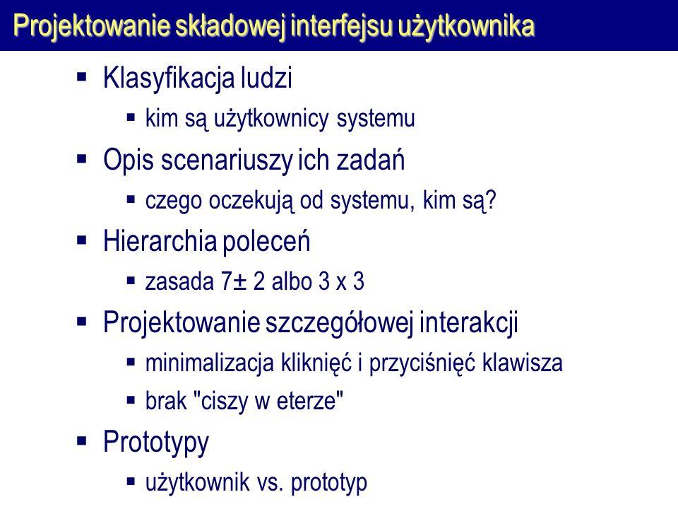 Projektowanie składowej interfejsu użytkownika