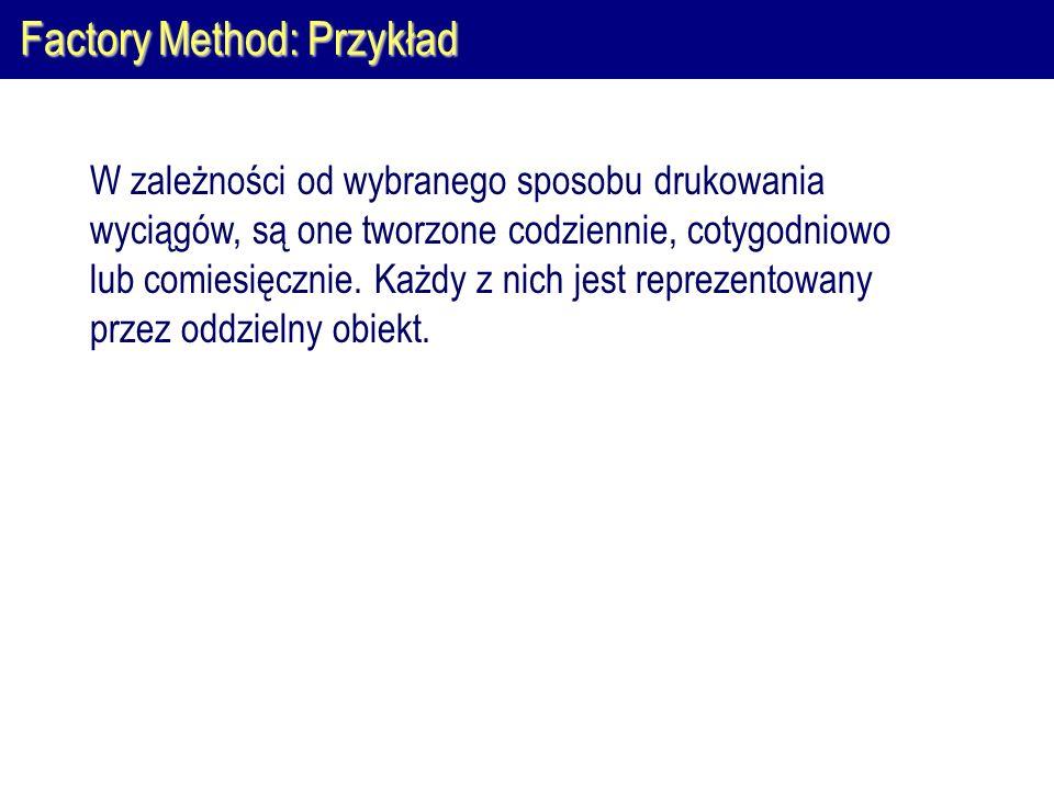 Factory Method: Przykład
