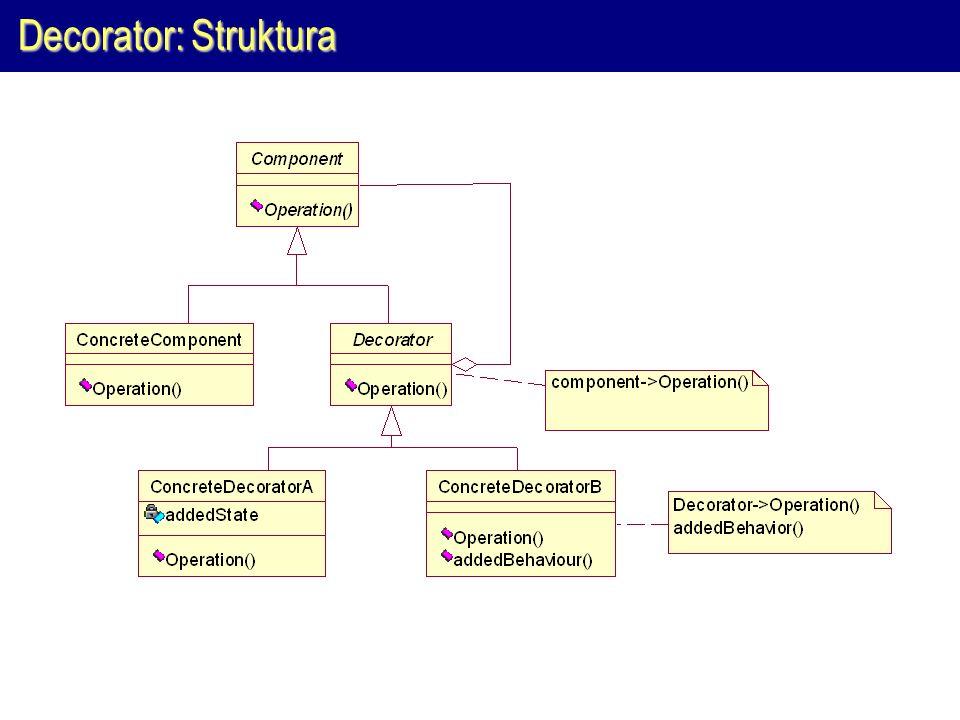 Decorator: Struktura