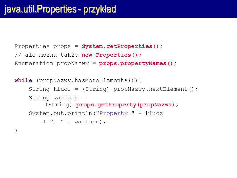 java.util.Properties - przykład