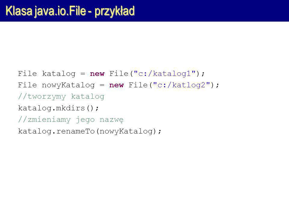 Klasa java.io.File - przykład