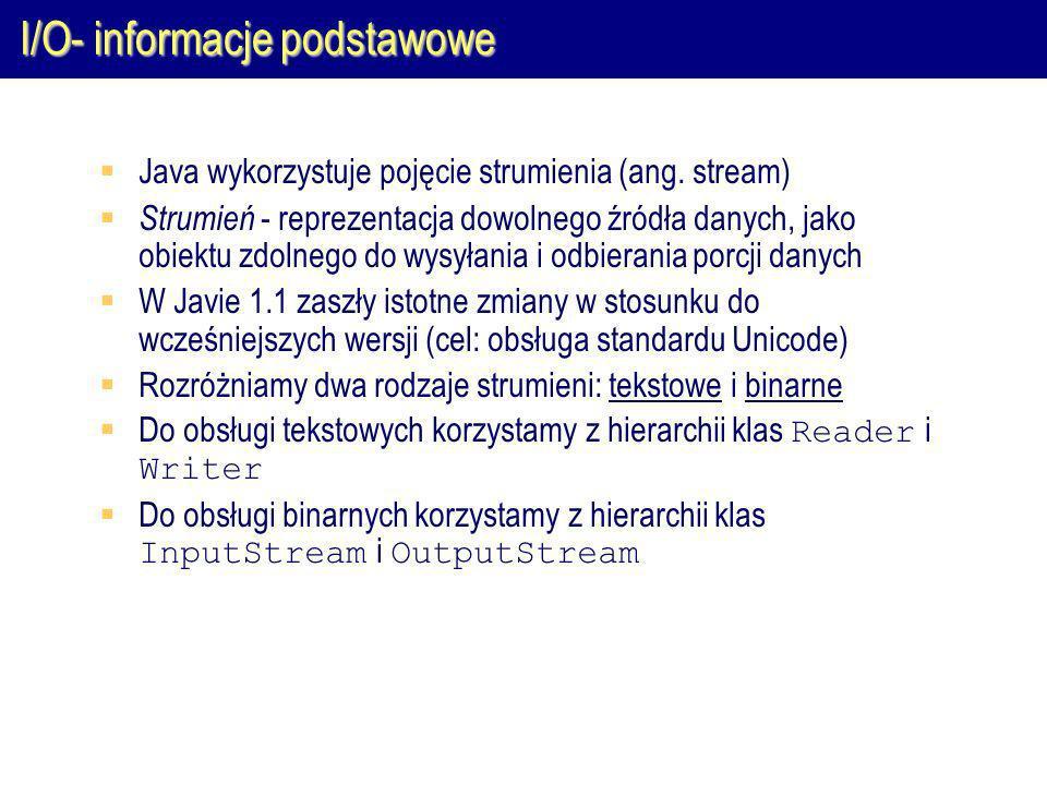 I/O- informacje podstawowe