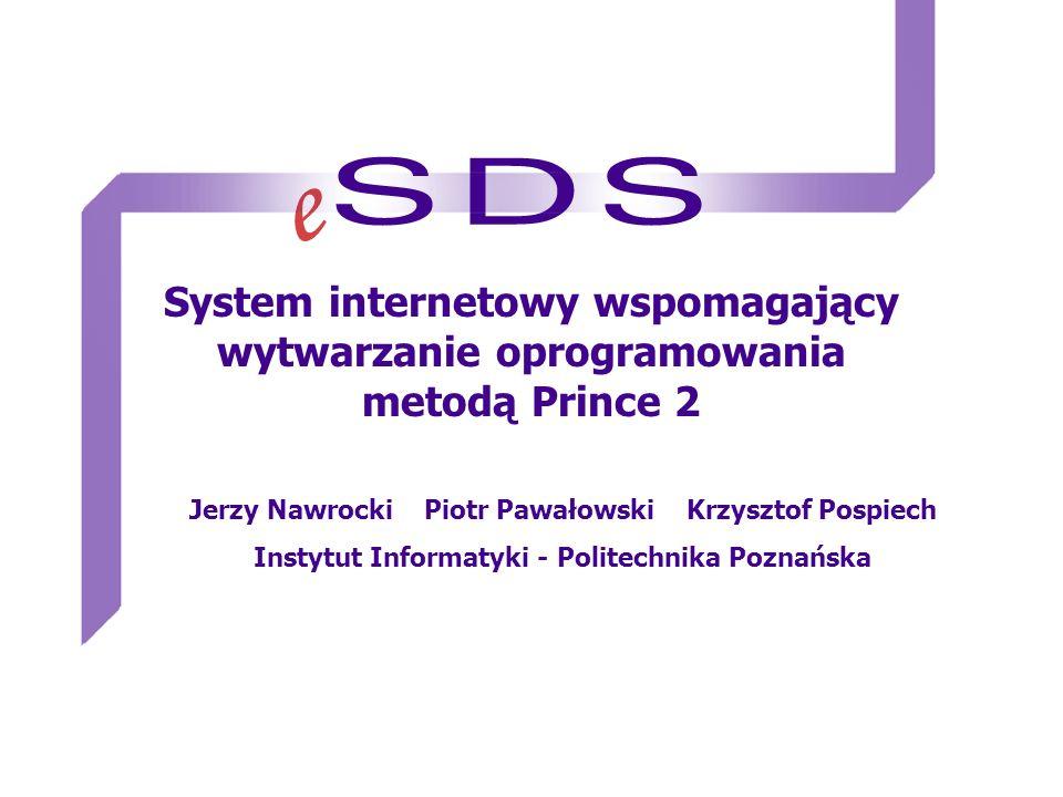System internetowy wspomagający wytwarzanie oprogramowania metodą Prince 2