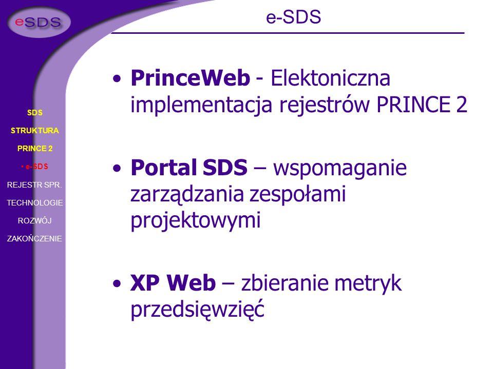 PrinceWeb - Elektoniczna implementacja rejestrów PRINCE 2