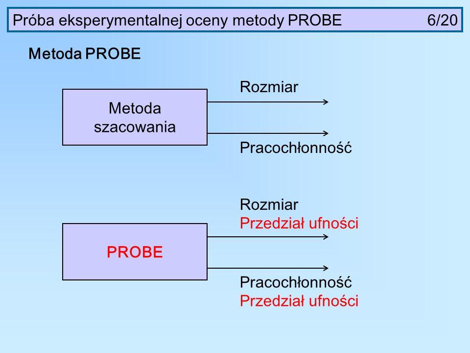 Próba eksperymentalnej oceny metody PROBE 6/20