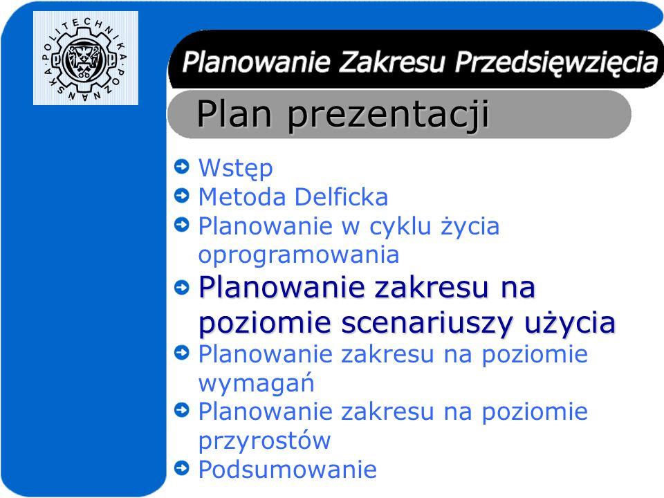 Plan prezentacji Wstęp Metoda Delficka Planowanie w cyklu życia