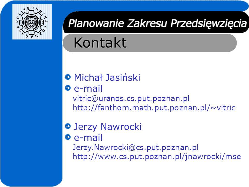 Kontakt Michał Jasiński e-mail Jerzy Nawrocki