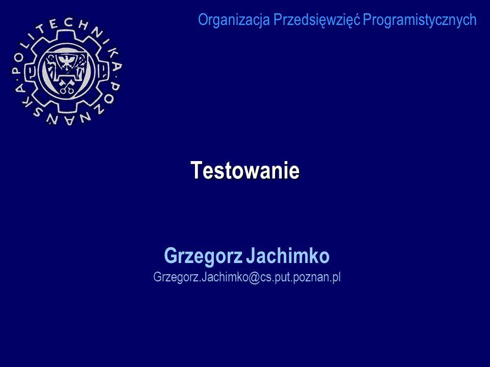 Grzegorz Jachimko Grzegorz.Jachimko@cs.put.poznan.pl