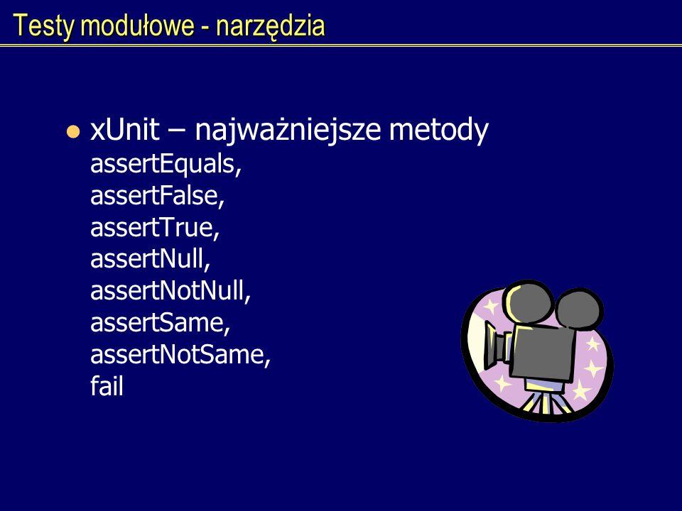 Testy modułowe - narzędzia
