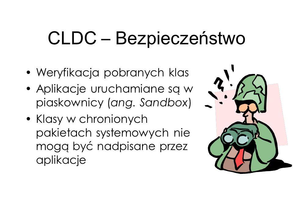 CLDC – Bezpieczeństwo Weryfikacja pobranych klas