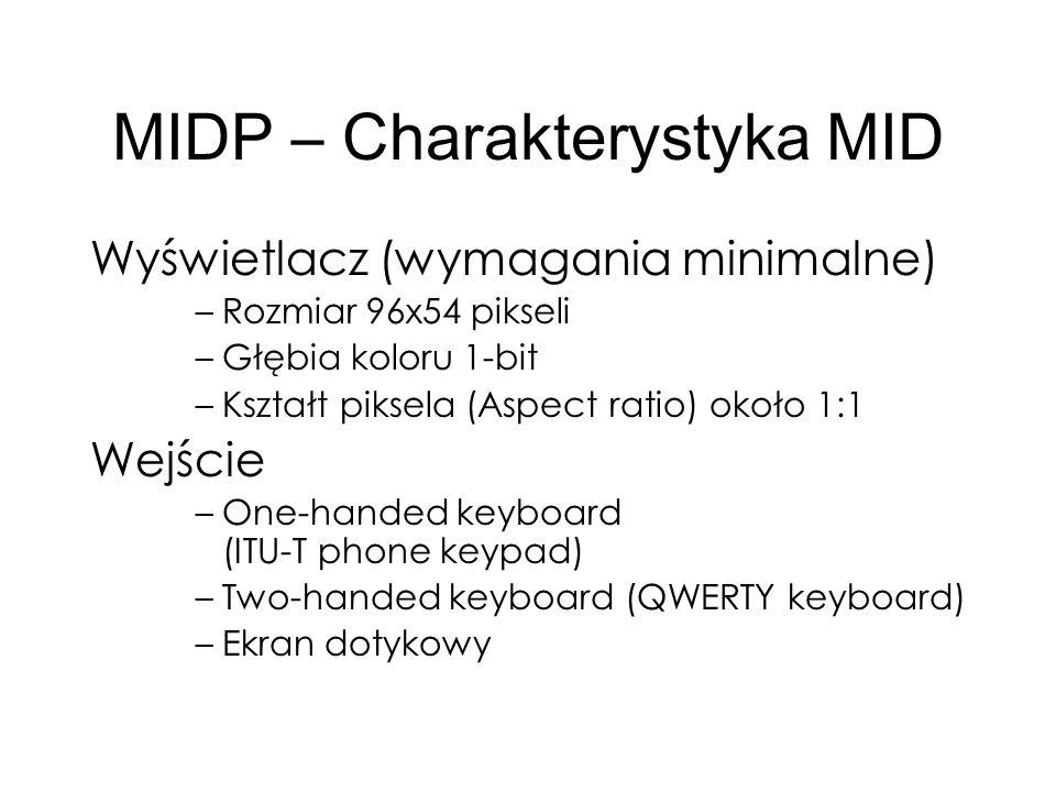 MIDP – Charakterystyka MID