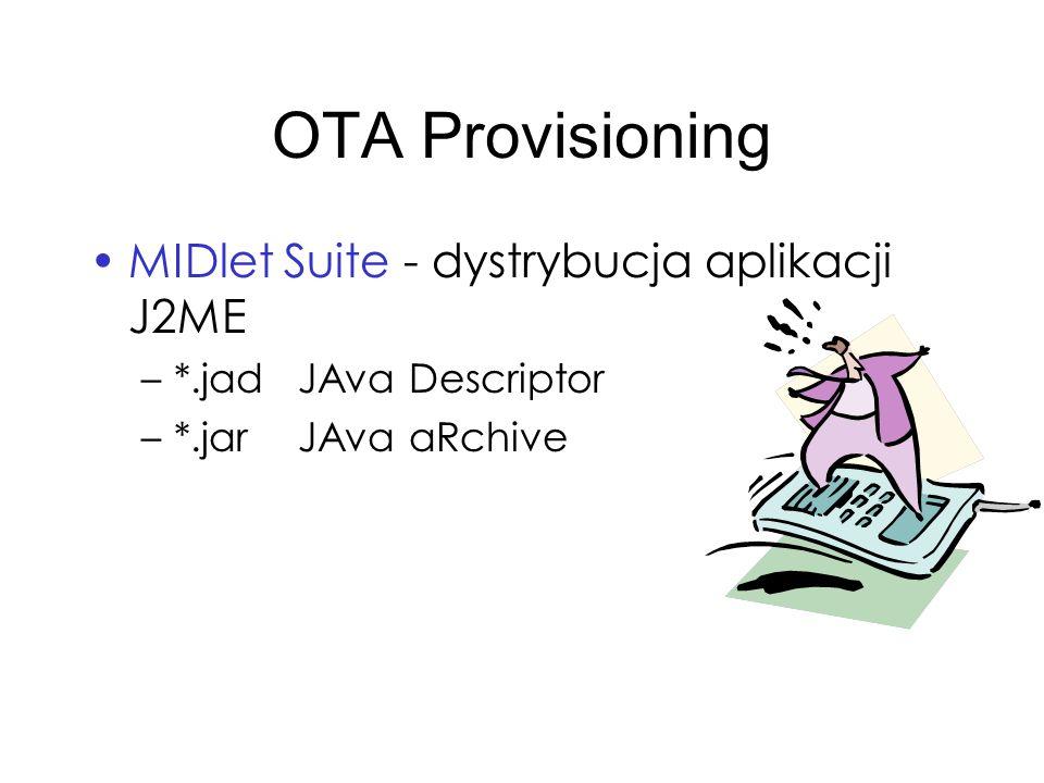 OTA Provisioning MIDlet Suite - dystrybucja aplikacji J2ME