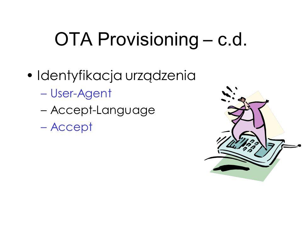 OTA Provisioning – c.d. Identyfikacja urządzenia User-Agent